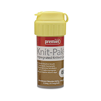 "8780238 Knit-Pak Plus Impregnated Knitted Retraction Cord Size 00, Brown, 100"", 9007562"