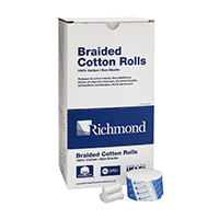 "8840408 Braided Cotton Rolls Non-Sterile, 1½"", Medium Dia. Junior Pack, 2000/Pkg, 200204"