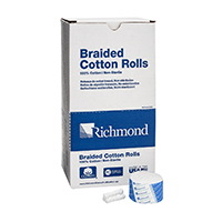 "8840454 Braided Cotton Rolls Non-Sterile, 1½"", Small Dia., 2000/Pkg, 201210"