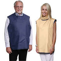 8851962 Soothe-Guard Lead-Lined Aprons with Thyroid Collar, Dove Gray, 6610050
