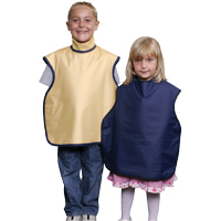 8851982 Child Soothe-Guard Lead Lined Aprons with Thyroid Collar, Light Blue, 6611047