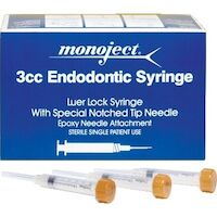 8872292 Monoject Endodontic Needles & Syringes 513 Endo Irrigation Syringe w/Needle, 3 ml, 27 Ga, Yellow, 100/Box, 8881513850