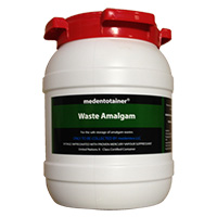 8950002 Medentotainer Small Waste Amalgam, 1.5 Gallon, BOUS1901