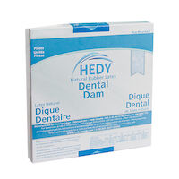 "8970018 Latex Dental Dam 6"" x 6"", Medium, Blue, 36/Box, 310DB-6M"