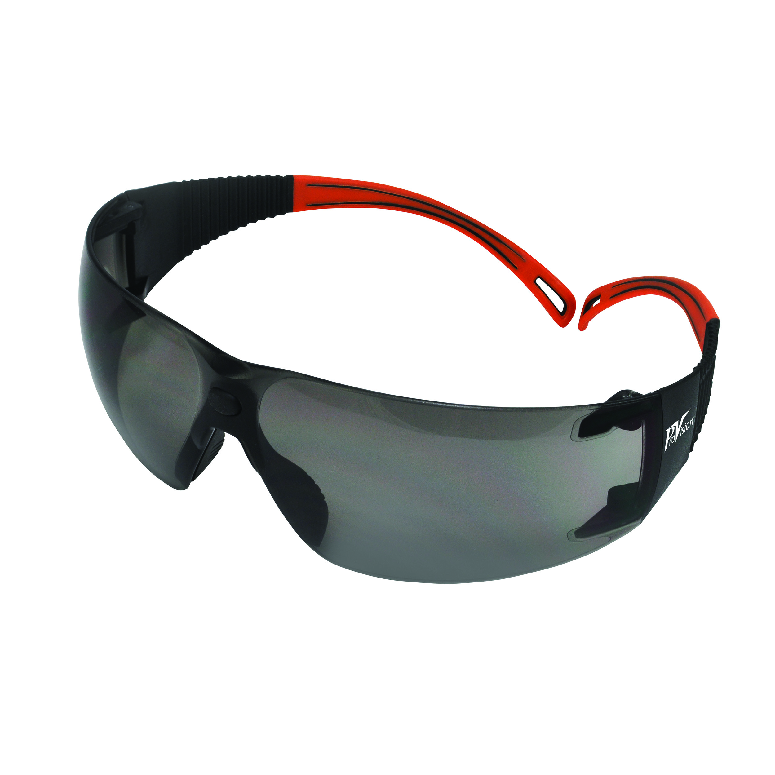 9200125 ProVision Flexiwrap Eyewear Black Frame, Orange Tips, Grey Lens, 3609OG