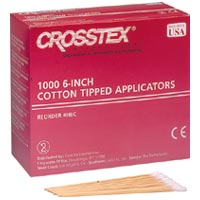 "9328312 Cotton Tipped Applicators 3"", 1000/Pkg, H3C"
