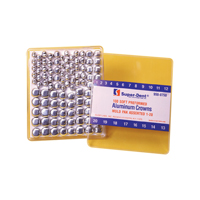 9500756 Aluminum Crowns Pre-Formed 3, 25/Box