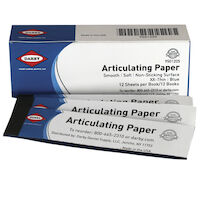9501205 Articulating Paper XX-Thin, 32 microns, Blue, 12Bks/Box