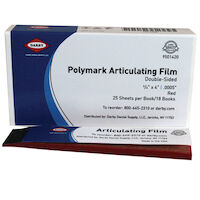 9501420 Polymark Articulating Film Red, 21 microns, Double-Sided, 450/Strips
