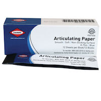 9501454 Articulating Paper X-Thin, 38 microns, Blue, 12Bks/Box