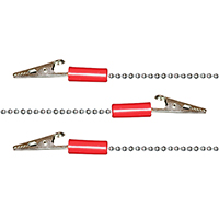 "9501754 Bib Clips Chain, 14"", Red, 3/Bag"