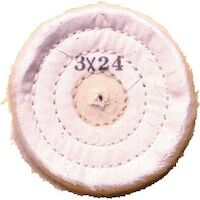"9502240 Muslin Buffs for Lathes 3"" X 24, 10/Pkg"