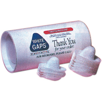 9503685 White Gaps Adult, White, 50/Pkg.
