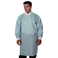 9508181 Dual Fabric Surgical Gowns Regular Size, Blue, 10/Pkg, 3370B