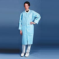 9508186 Protection Lab Coats X-Large, Blue, 10/Pkg, 3460-LXL