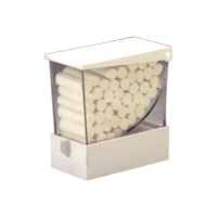 9509344 Cotton Roll Deluxe Dispenser Deluxe, White