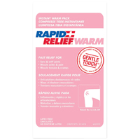 "9514878 Rapid Relief Cold and Warm Packs Warm Pack, 5"" x 9"", 24/Pkg., 44359"