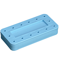 9515771 14-Hole Magnetic Bur Block Blue, Magnetic, 14-Hole, 400BR-2