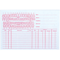 "9518690 Record Cards 4"" x 6"" #204 Regular, 100/Pkg."