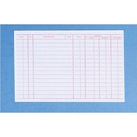 "9518692 Record Cards 4"" x 6"" #204C Double-Sided, 100/Pkg."