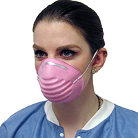 9518722 Cone Molded Face Mask Small, Pink, 50/Box