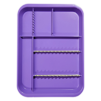 9521567 B-Lok Divided Setup Trays Neon Purple, 20Z451R