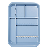 9521752 B-Lok Divided Setup Trays Blue, 20Z451B