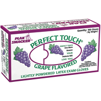 9524911 Perfect Touch Flavored Powdered Latex Gloves Medium, 100/Box, 21328, Grape