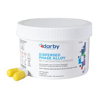 9526821 Dispersed Phase Alloy Regular Set, Three Spill, 800 mg, White/Yellow, 100/Pkg