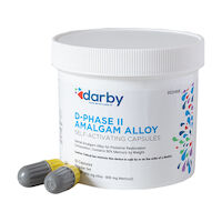 9526968 D-Phase II Amalgam Alloy Regular Set, Three Spill, 800mg, Yellow/Gray, 50/Pkg
