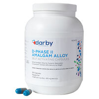 9526972 D-Phase II Amalgam Alloy Regular Set, Two Spill, 600mg, Navy/Gray, 500/Pkg