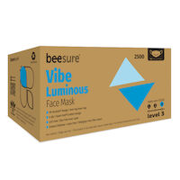 9530197 BeeSure Vibe Face Mask Luminous Blue, 50/Box, BE2500