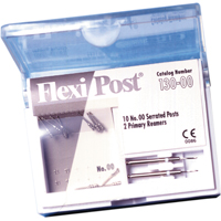 9530518 Flexi-Post Refills and Economy Refills Stainless Steel, Size 00, White, 10/Pkg, 130-00