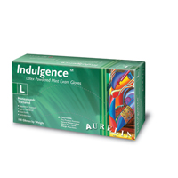 9530946 Indulgence Powdered Mint Exam Gloves Large, 100/Box, 99828