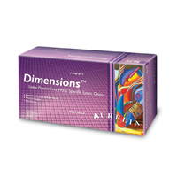 9530986 Dimensions Fitted Latex PF Gloves Size 7, 50 Pairs, 69926