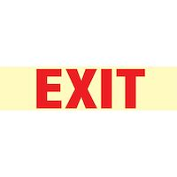 9539721 Medical Safety Signs Exit, Glow, EXS1