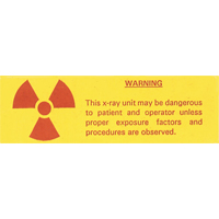9539733 Medical Safety Signs Radiation Caution, 10/Pkg., 5098-0010