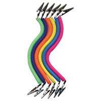 9551062 Assorted Bib Holders Neon Tones, 6/Pkg, 010300