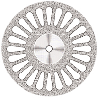 9590260 Superflex NTI Diamond Discs D405-220C, Coarse, Double Sided, Perforated