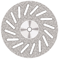 9590264 Superflex NTI Diamond Discs D605-220, Medium, Double Sided, Perforated