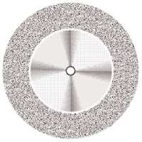 9590266 Superflex NTI Diamond Discs 911H-160, Medium, Double Sided