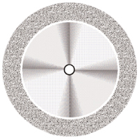 9590270 Superflex NTI Diamond Discs D911H-220, Medium, Double Sided