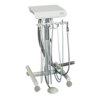 9626168 3 HP Automatic Doctor's Cart and Duo Cart with Vacuum Duo Swing Cart, S-4150