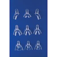 9812287 Crystal Disposable Impression Trays Full Arch Upper, Medium, Non-Perforated, 12/Pkg.