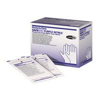 9900094 Purple Nitrile Sterile PF Gloves Small, 50 Pairs, 55091
