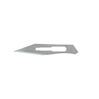 9909156 Carbon Steel, Sterile Surgical Blades #25, 100/Box, 4-125
