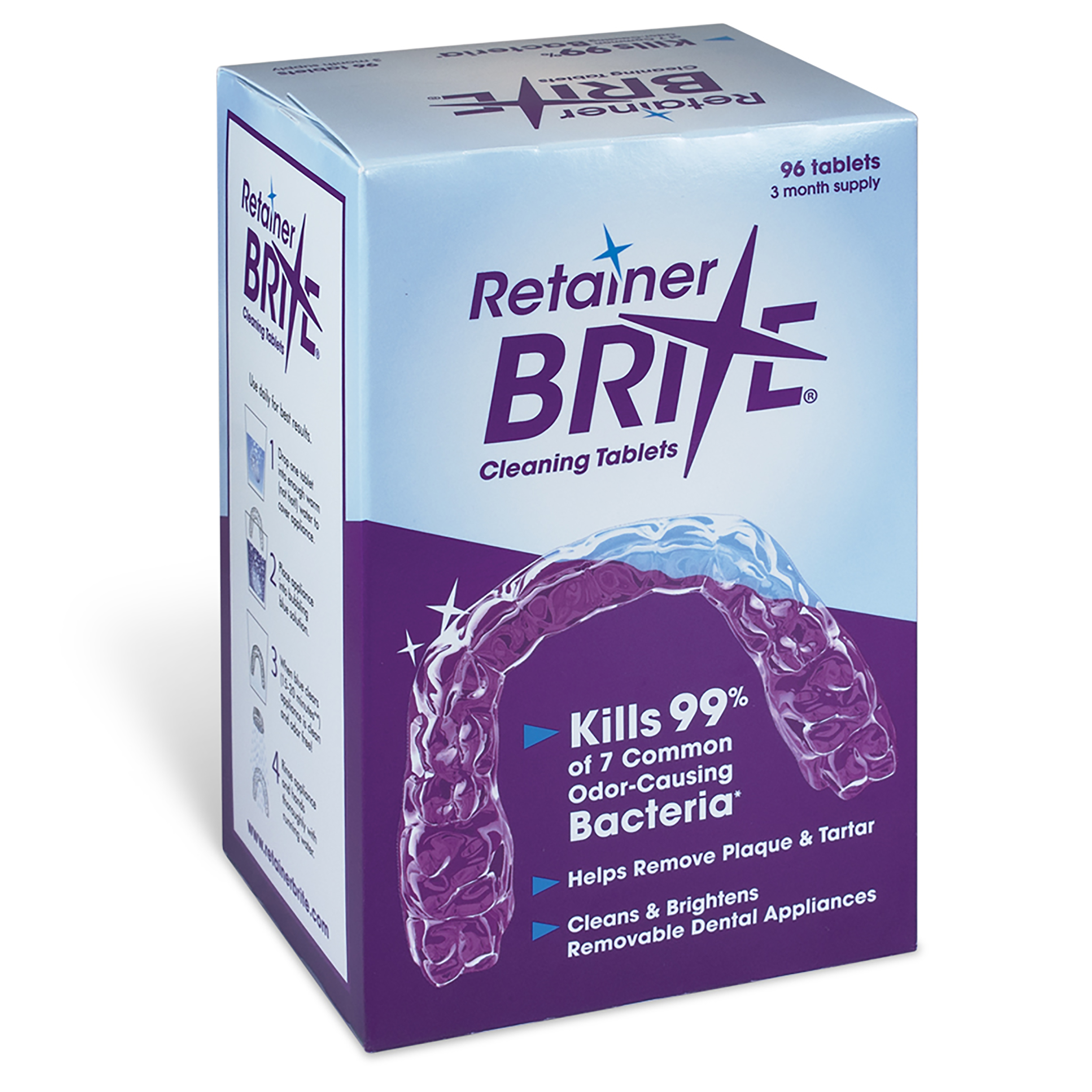 0905082 Retainer Brite Tabs Tablets, 96/Box
