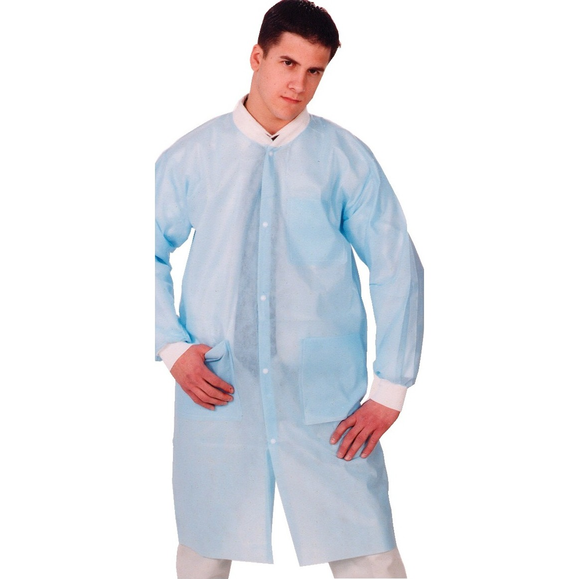9508198 Protection Lab Coats Large, Blue, 10/Pkg, 3460-LBL