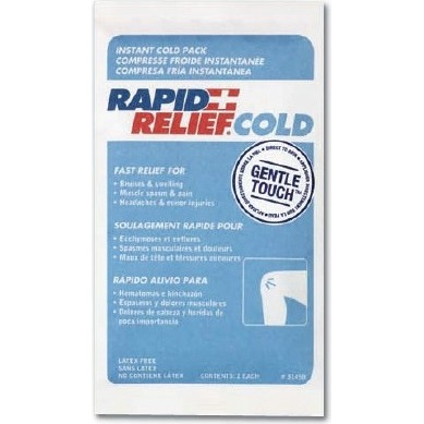 "9514854 Rapid Relief Cold and Warm Packs Cold Pack, 4"" x 6"", 50/Pkg., 31346-50"