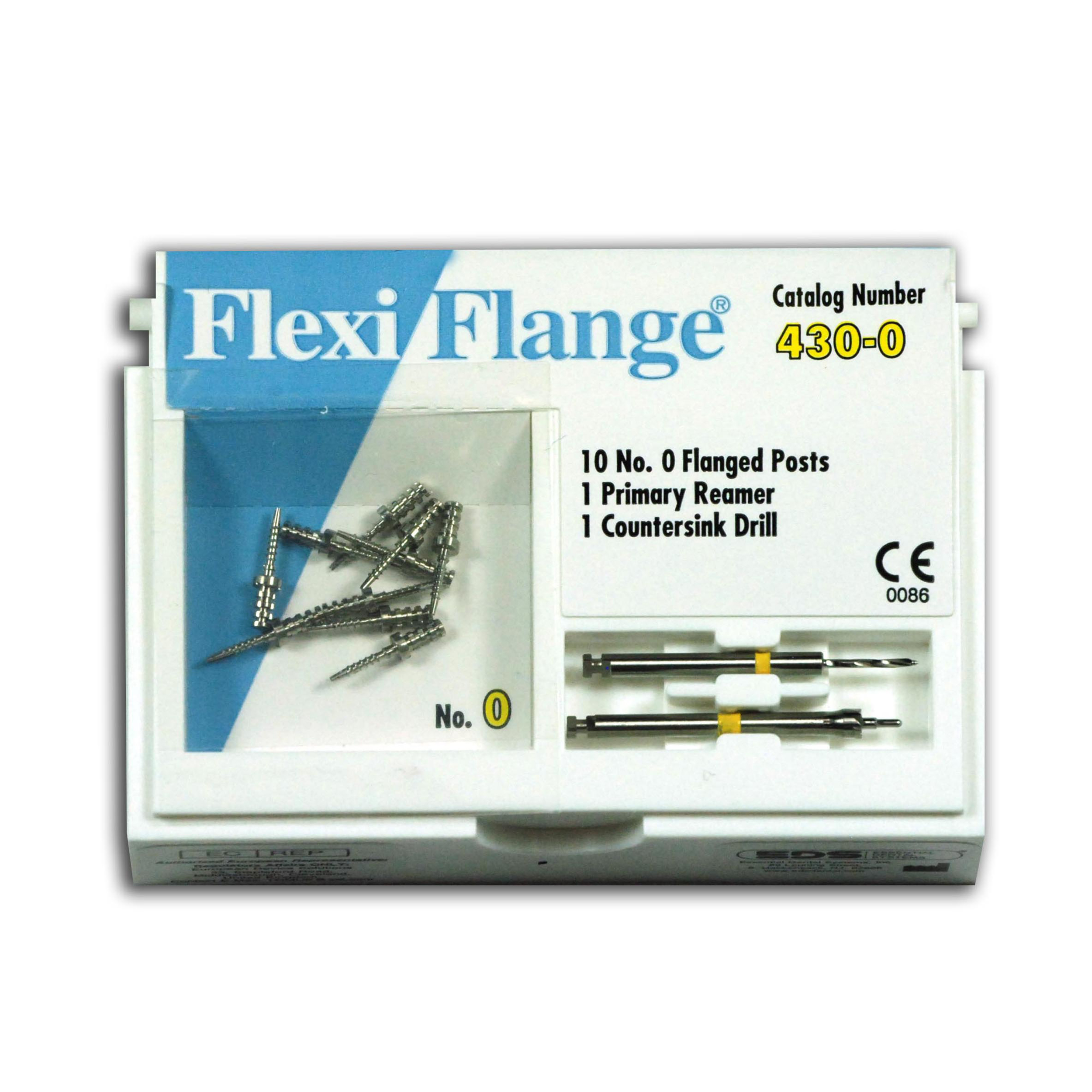 9530732 Flexi-Flange Stainless Steel Refill, Size 0, Yellow, 10/Pkg., 430-0